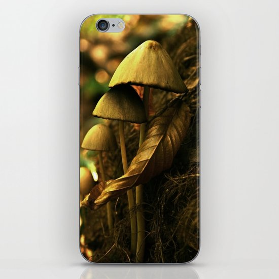 Magic mushroom family iPhone & iPod Skin