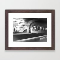 late again Framed Art Print