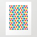 Hexagon Colour Field (2009) Art Print