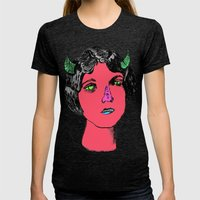 1922 Lila Lee portrait color Womens Fitted Tee Tri-Black SMALL