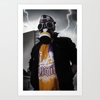 Air Jordan 1 Gas Mask Art Print