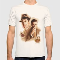 MAD MEN DON DRAPER Mens Fitted Tee Natural SMALL