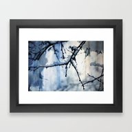Snow And Water Framed Art Print