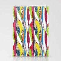 Patchwork pattern Stationery Cards