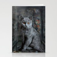 cats instantaneous Stationery Cards