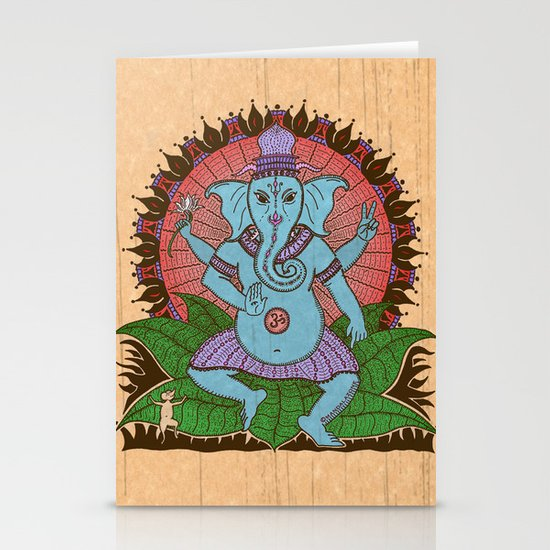 peace ganesh Stationery Card