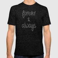 Forever & Always Mens Fitted Tee Tri-Black SMALL