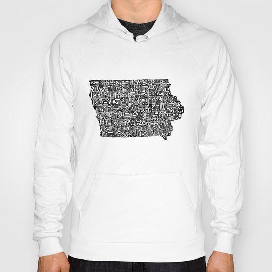 Typographic Iowa Hoody