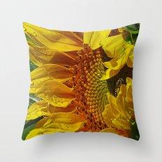 Inside the Sunflower Throw Pillow