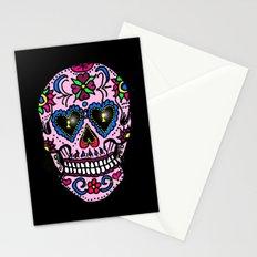 Sugar Skull, Hearts Stationery Cards