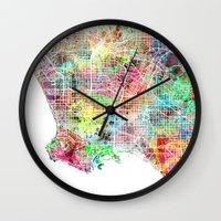 Los Angeles Map Californ… Wall Clock