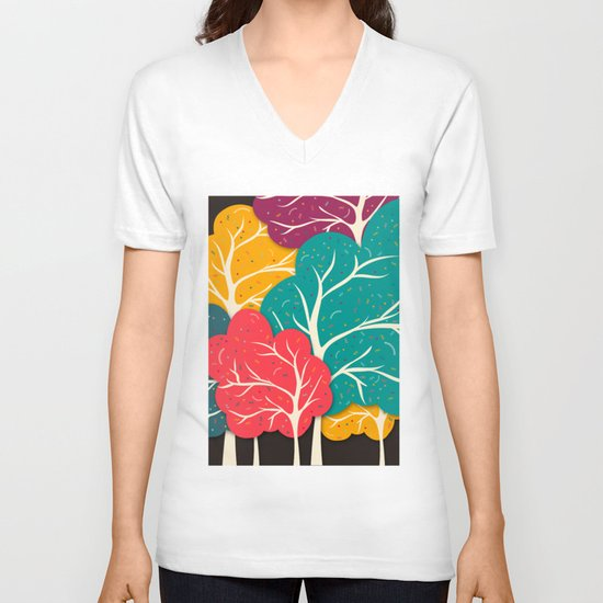 Happy Forest V-neck T-shirt