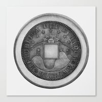 Moby Coin Canvas Print