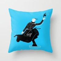 Mechanical Bull Throw Pillow