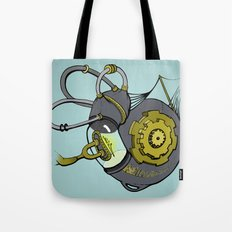 Steampunk Anatomy Cochlea Tote Bag