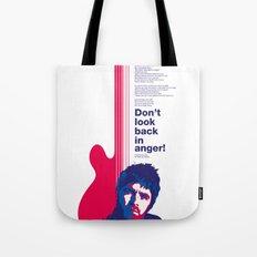Noel Gallagher - Don't Look Back In Anger Tote Bag