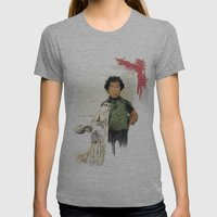 A BOY IN THE WILD Womens Fitted Tee Athletic Grey SMALL