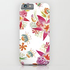 Tropical Flowers Watercolor iPhone 6 Slim Case