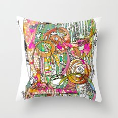 Artsy Lines Throw Pillow
