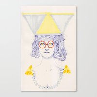 Yellow Triangles Canvas Print