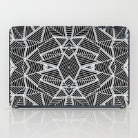 Abstract Lines Black and Silver M iPad Case