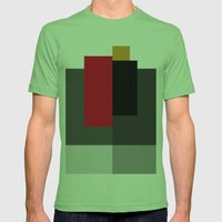 Rectangles2 Mens Fitted Tee Grass SMALL