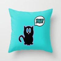 Yolo? Throw Pillow