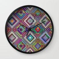 Squares 2 Wall Clock