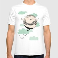 Balloon Man Mens Fitted Tee White SMALL