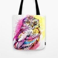 Neon Northern Pygmy Owl Tote Bag