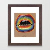 Stellar Lips. Framed Art Print