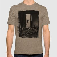 Abandoned Buildings Have… Mens Fitted Tee Tri-Coffee SMALL