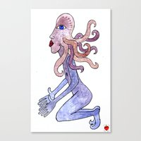 Octopus man can't wait no more Canvas Print
