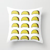 Taco Party Throw Pillow