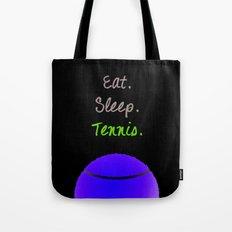 Eat. Sleep. Tennis.  (White with Pink) Tote Bag