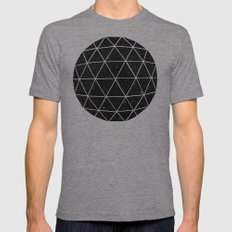 Geodesic Mens Fitted Tee Tri-Grey SMALL
