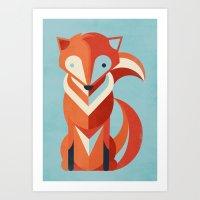 Art Print featuring Fox by Jay Fleck