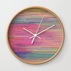 into nature (hex2_crop2) Wall Clock