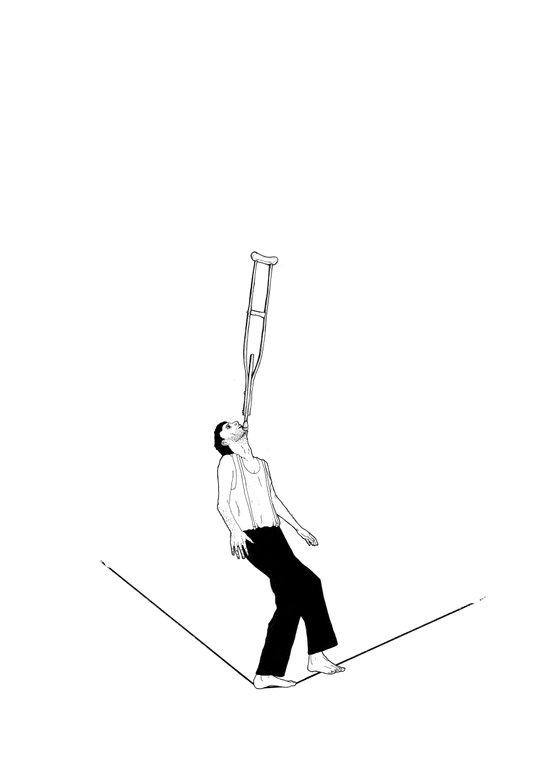 balance beam Art Print