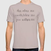 Fire Within Me Mens Fitted Tee Cinder SMALL