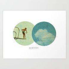 Survive   Collage Art Print
