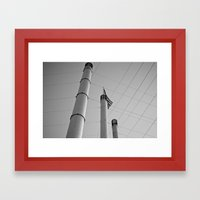 Stacks & Lines Framed Art Print