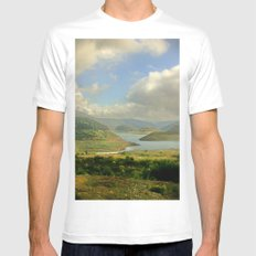 Alpine Ranges SMALL White Mens Fitted Tee