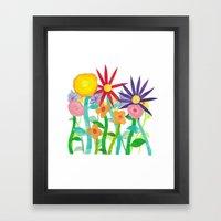More Flowers Framed Art Print