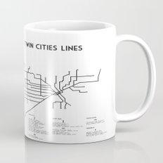 Twin Cities Lines Map Mug