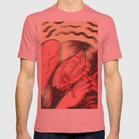 ST2 Mens Fitted Tee Pomegranate SMALL