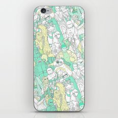Space Toons In Pastel Gr… iPhone & iPod Skin