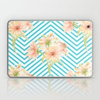 Flowers and Stripes Laptop & iPad Skin