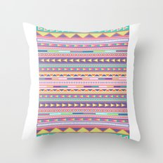 Geometric Pastel Pattern Throw Pillow