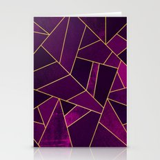 Purple Stone Stationery Cards